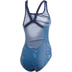 adidas Sh3.Ro Linage S Swimsuit Women shock cyan/tech indigo